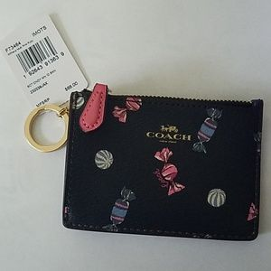 Coach Mini Skinny F73464 Navy Blue Scattered Candy